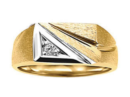 Image sur Bague en or jaune et blanc avec diamant