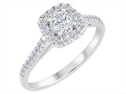 Image de Bague en or blanc avec diamants