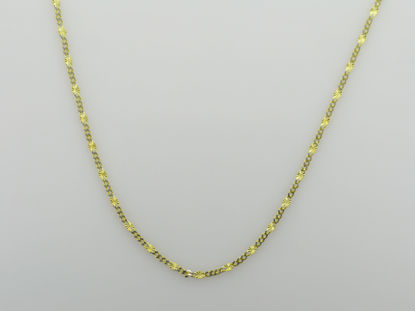 """Image de Chaîne de Fantaisie 18"""" en or jaune et blanc"""