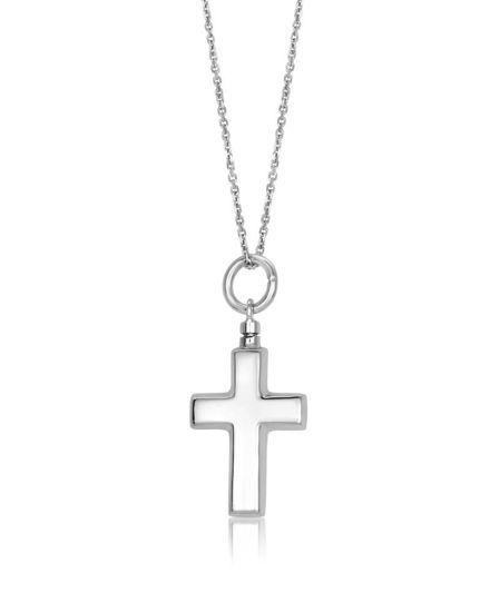 Image sur Urne funéraire croix en argent 925 de la Collection Larus