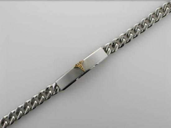 Image sur Bracelet médical Gourmette en acier inoxydable