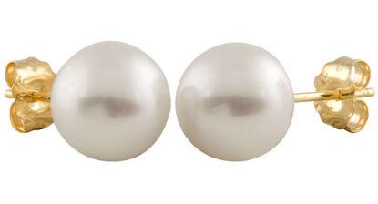Image de Boucles d'oreilles perle d'eau douce 9mm