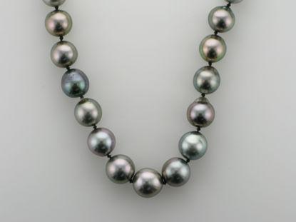 Image de Collier de perles noires de Tahiti 19''