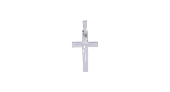 Image sur Pendentif croix en or blanc